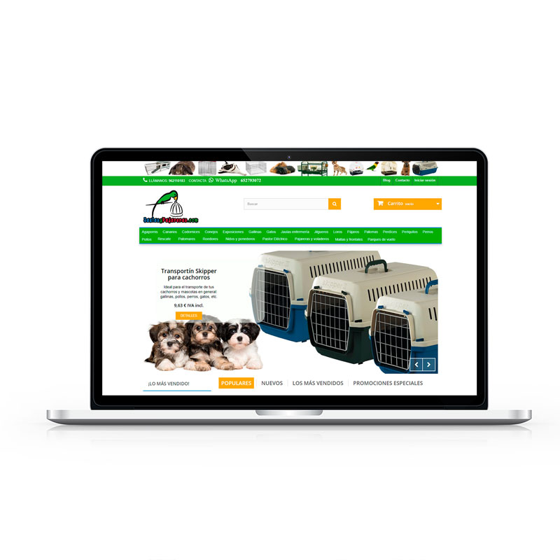 Tienda Online Jaulas y Pajareras