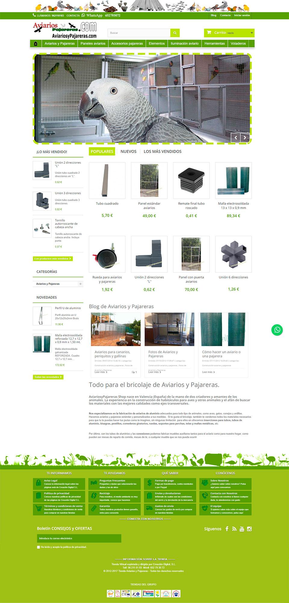 ABC Creación Digital. Tienda online para alojamientos de aves