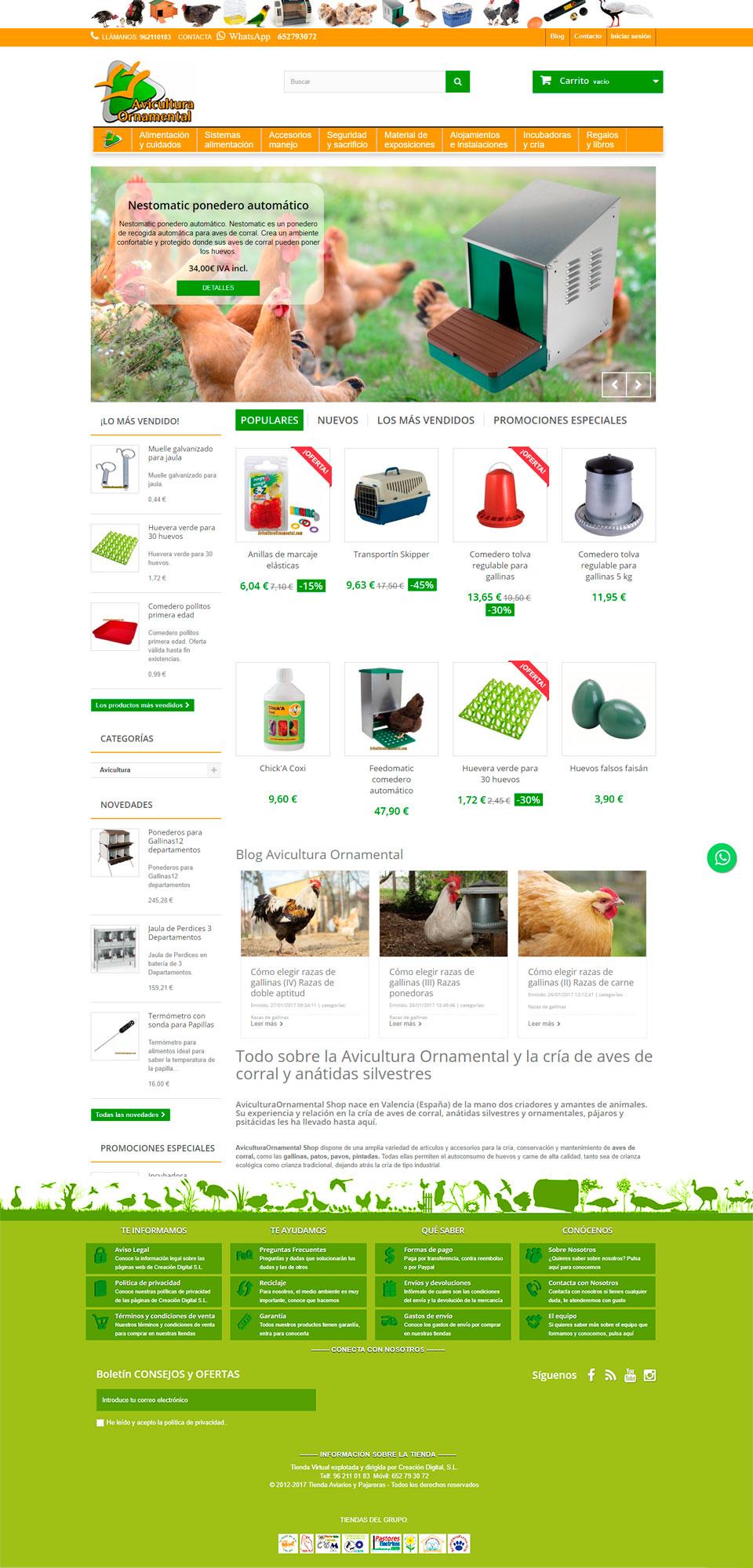 ABC Creación Digital. Tienda Online Avicultura Ornamental, todo lo que necesitas para tus aves