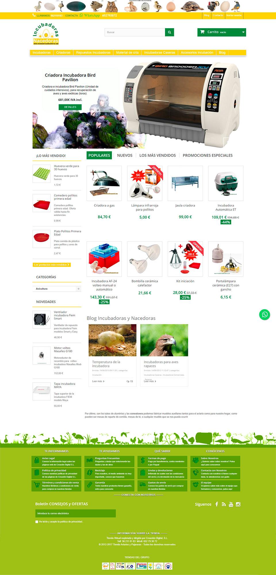 ABC Creación Digital. Tienda Online de Incubadoras y Nacedoras para todo tipo de animales