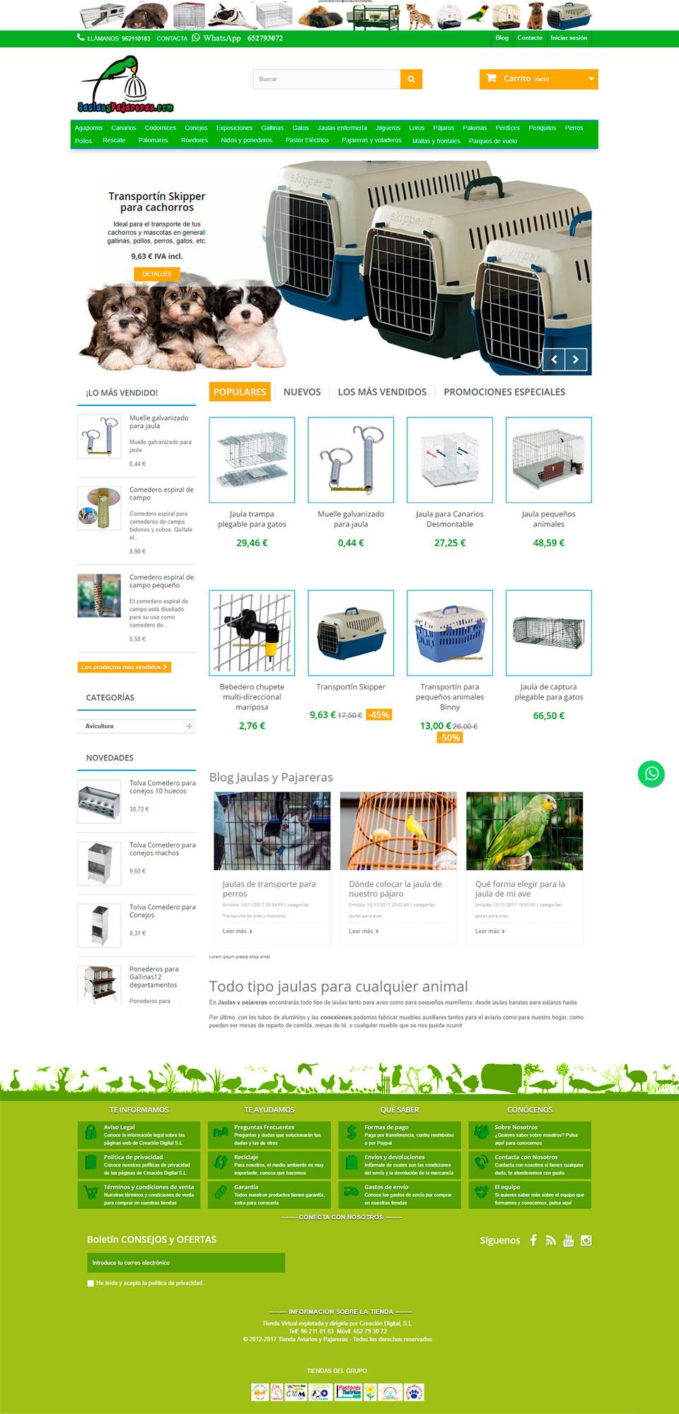 ABC Creación Digital. Tienda Online de Jaulas y Pajareras